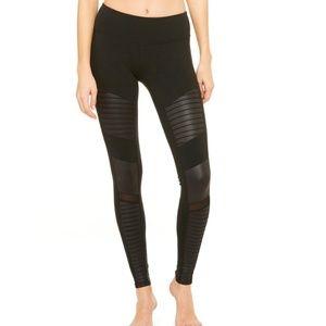 Alo Yoga Moto Black Legging